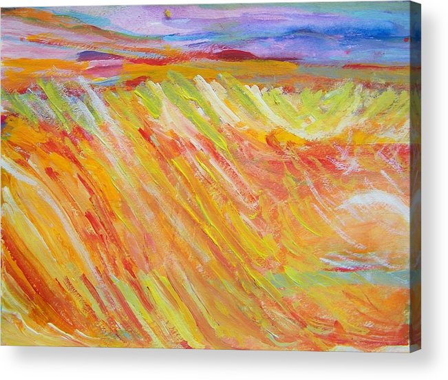 Abstract Acrylic Print featuring the painting Marshlands by Judith Redman