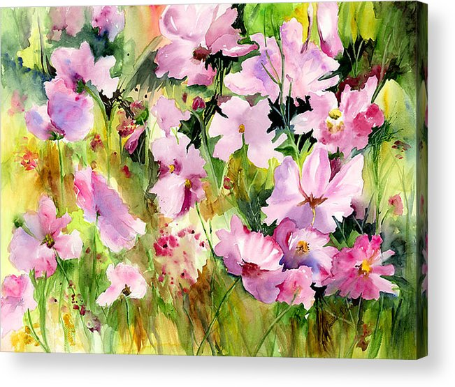 Flowers Acrylic Print featuring the painting Melanie by Priscilla Powers