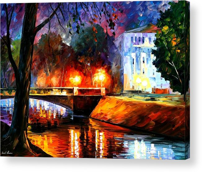 Afremov Acrylic Print featuring the painting Memories Of The First Love by Leonid Afremov