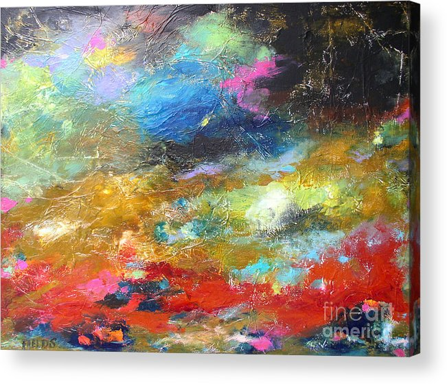 Abstract Acrylic Print featuring the painting Moments by Karen Fields