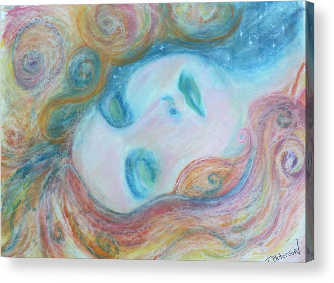 Painting Acrylic Print featuring the painting Morpheus Embrace by Todd Peterson