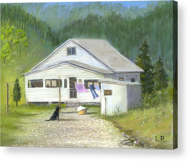 Kentucky Acrylic Print featuring the painting My Old Kentucky Home by Linda Preece
