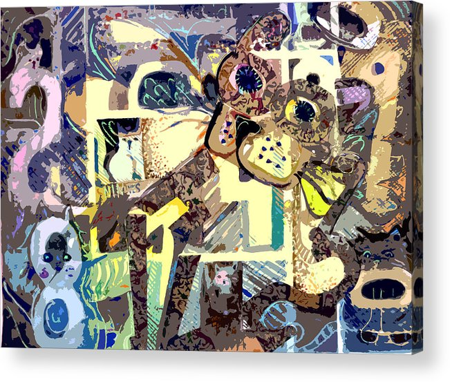 Collage Acrylic Print featuring the photograph Nine Lives Of The Cat by Mindy Newman