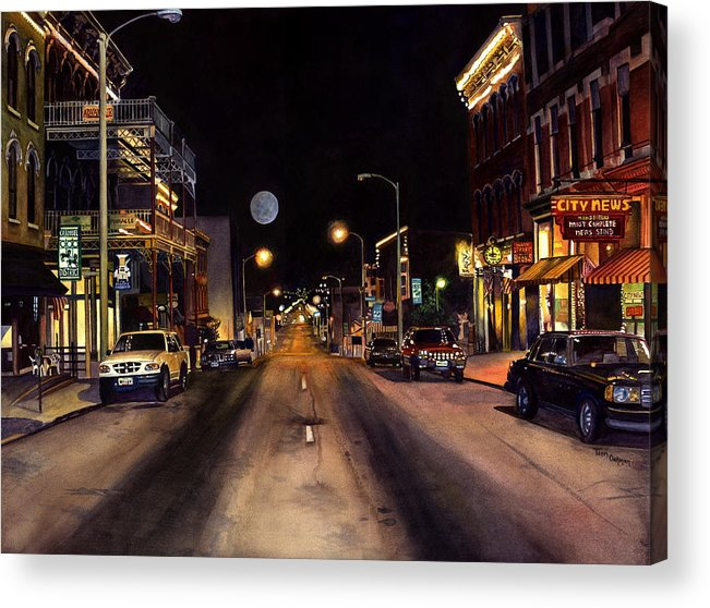 Nocturne Watercolor Acrylic Print featuring the painting Nocturne by Terri Meyer