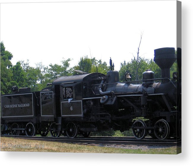 Shay Steam Engines Acrylic Print featuring the photograph Number 6 Shay Steam Engine by Carolyn Postelwait