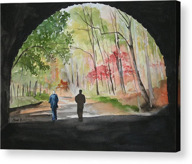 Road Acrylic Print featuring the painting On The Road To Nowhere by Jean Blackmer