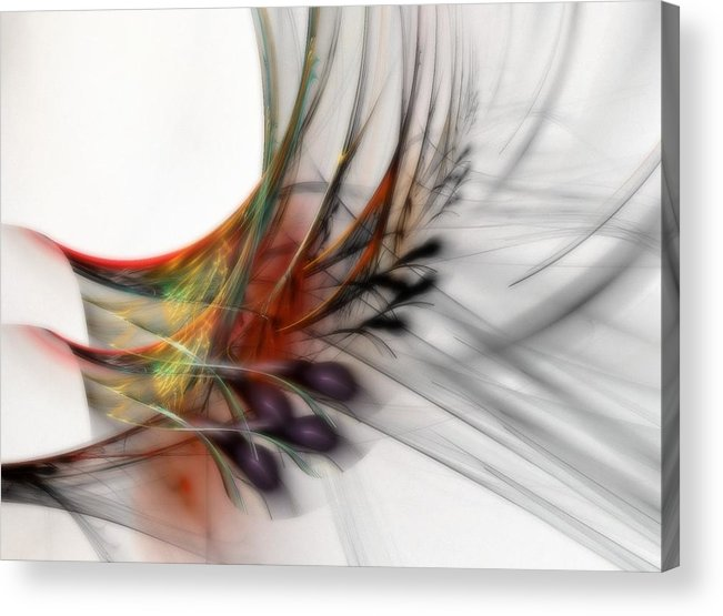 Abstract Acrylic Print featuring the digital art Our Many Paths by NirvanaBlues