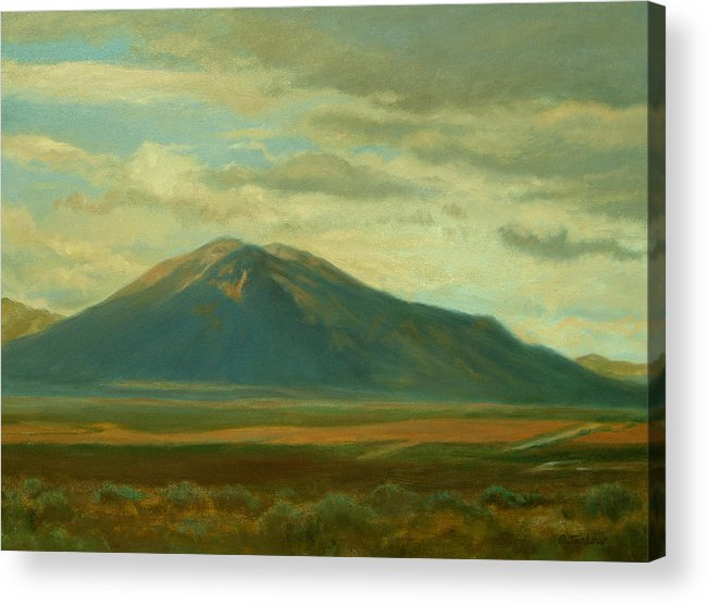 Southwest Acrylic Print featuring the painting Outside Of Taos by Phyllis Tarlow