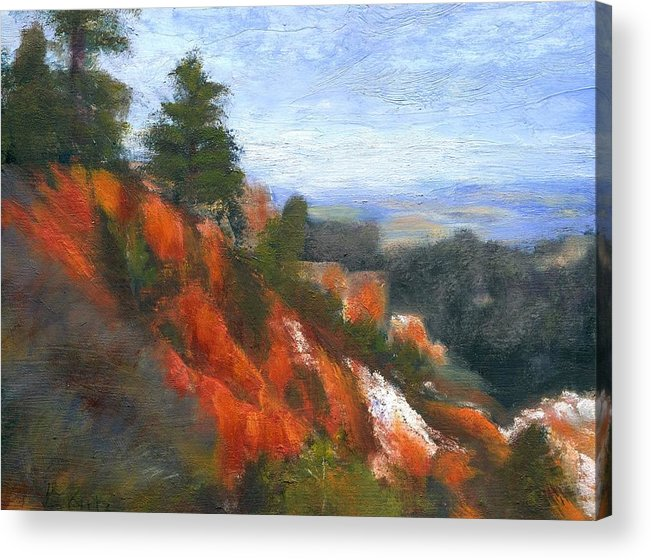 Southwest Acrylic Print featuring the painting Overlook by Gail Kirtz