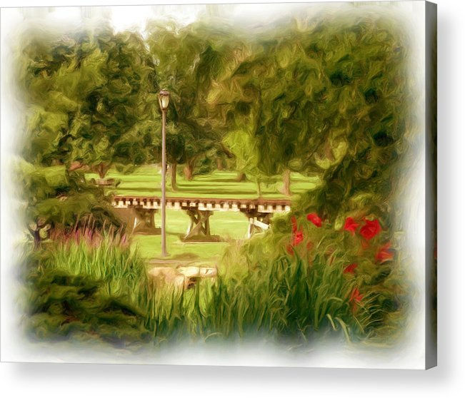 Park Acrylic Print featuring the photograph Paint In The Park by Jim Darnall