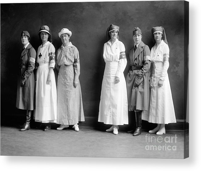 1920 Acrylic Print featuring the photograph Red Cross Corps, C1920 by Granger