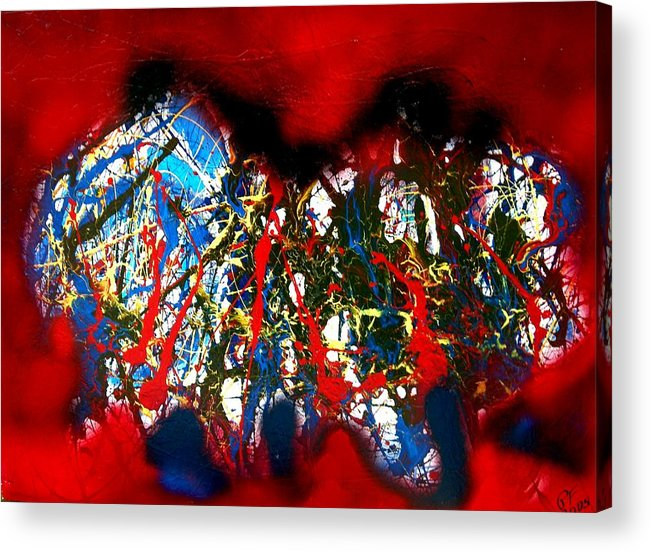 Abstract Acrylic Print featuring the painting Red Rock 2 by Paul Freidin