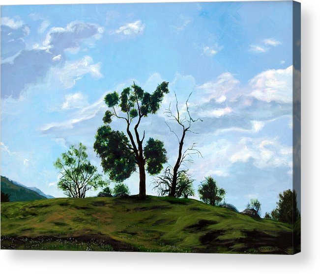 Landscape Acrylic Print featuring the painting Resurrection Sunday by Jill Iversen