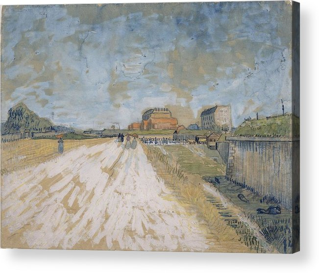 Nature Acrylic Print featuring the painting Road Running Beside The Paris Ramparts Paris, June - September 1887 Vincent Van Gogh 1853 1890 by Artistic Panda