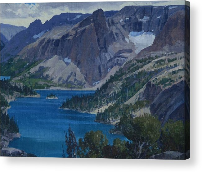 Landscape Acrylic Print featuring the painting Ross Lake by Lanny Grant