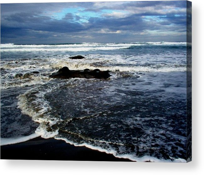 Ocean Acrylic Print featuring the photograph Rough Waters by Trisha Allard