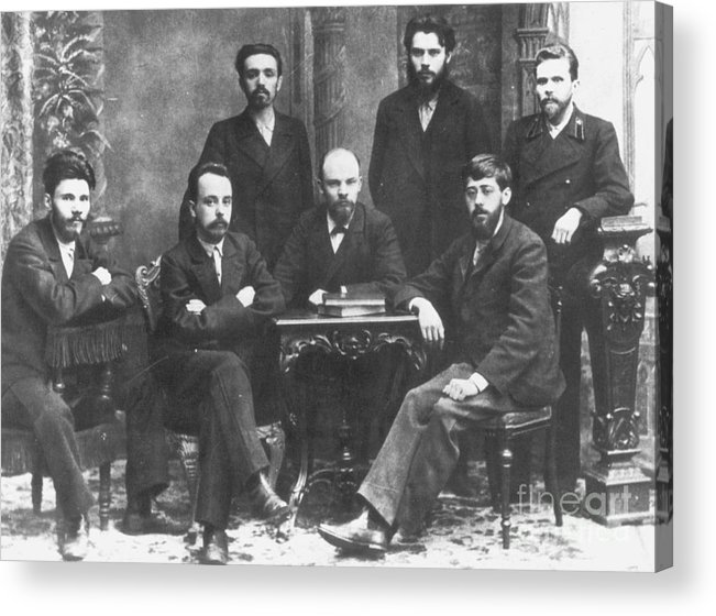 1897 Acrylic Print featuring the photograph Russian Marxists, 1897 by Granger