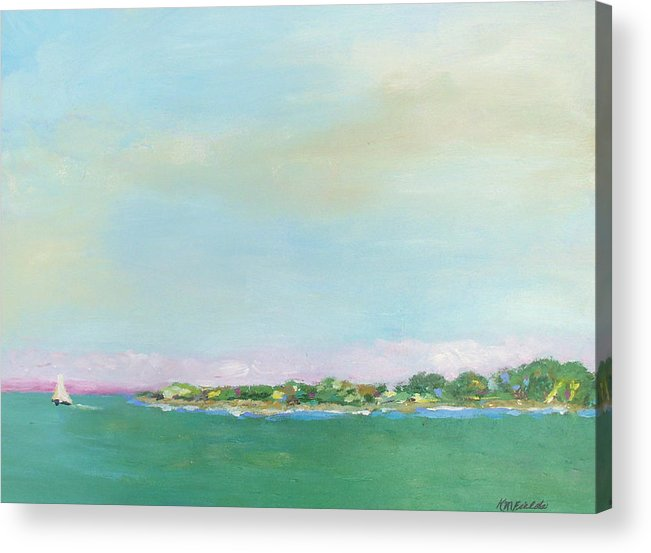 Sailboat Acrylic Print featuring the painting Sanibel Sailboat by Karen Fields
