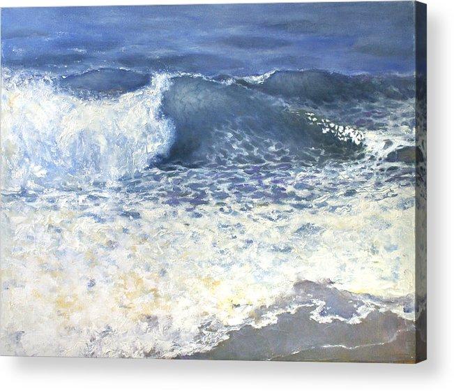 Sea Acrylic Print featuring the painting Sea 1 by Valeriy Mavlo