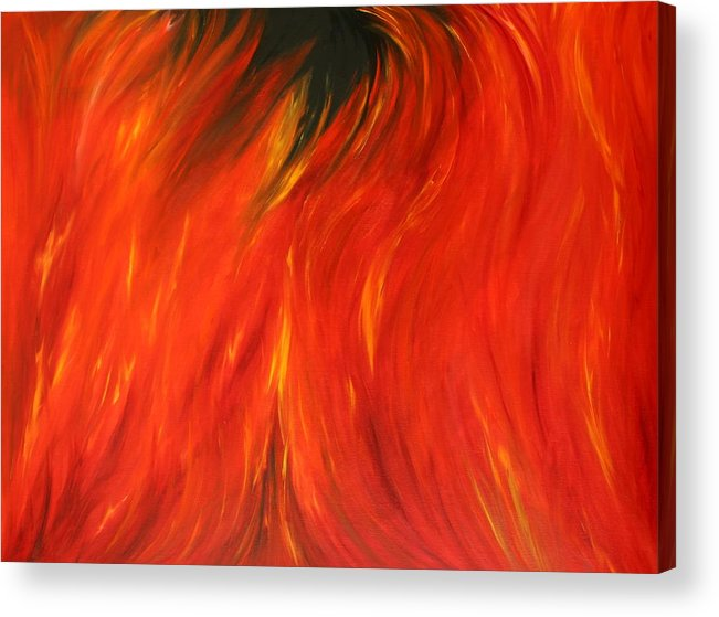 Fire Acrylic Print featuring the painting Sea Of Flames by Karen Rester