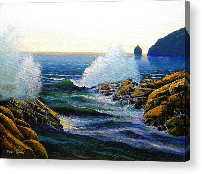 Seascape Acrylic Print featuring the painting Seascape Study 3 by Frank Wilson