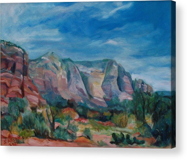 Landscape Acrylic Print featuring the painting Sedona II by Stephanie Allison
