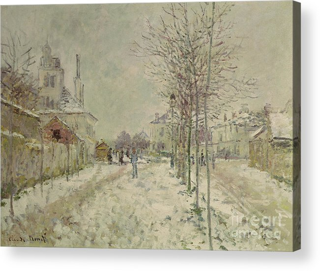 Snow Effect Acrylic Print featuring the painting Snow Effect by Claude Monet