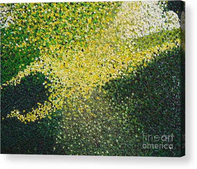 Abstract Acrylic Print featuring the painting Soft Green Light by Dean Triolo