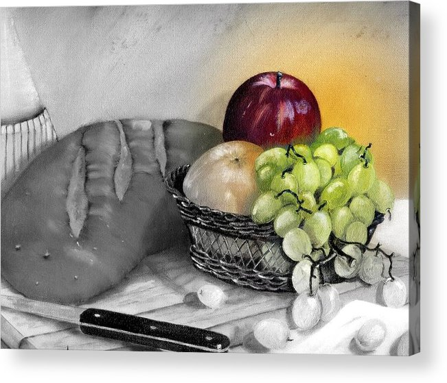 Fruit Acrylic Print featuring the painting Splash Of Color by Penny Everhart