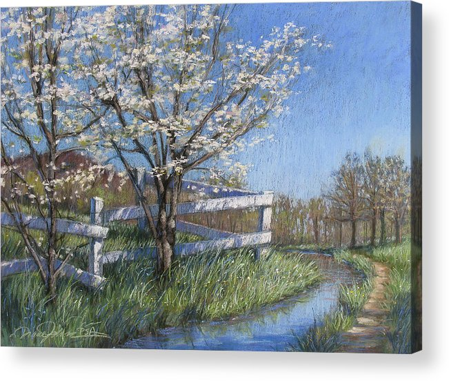 Pastel Painting Acrylic Print featuring the painting Spring Fare by L Diane Johnson
