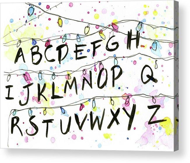Stranger Things Christmas Lights.Stranger Things Alphabet Wall Christmas Lights Acrylic Print
