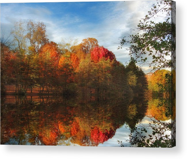 Autumn Acrylic Print featuring the photograph Sunset Reflections by Jessica Jenney