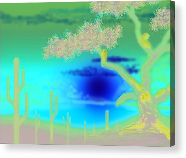 Wall Hanging Acrylic Print featuring the digital art Sunset West by Larry Ryan