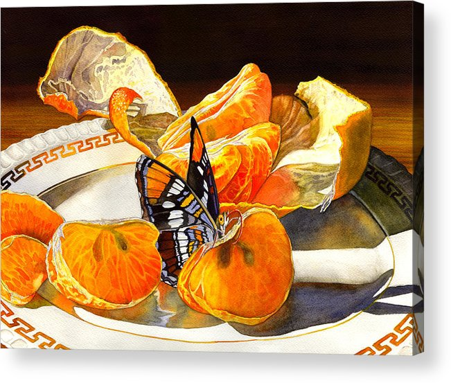 Butterfly Acrylic Print featuring the painting Tasty by Catherine G McElroy