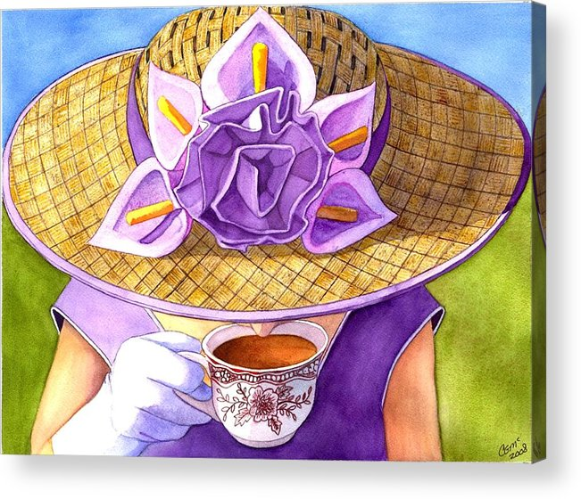 Tea Acrylic Print featuring the painting Tea Party by Catherine G McElroy