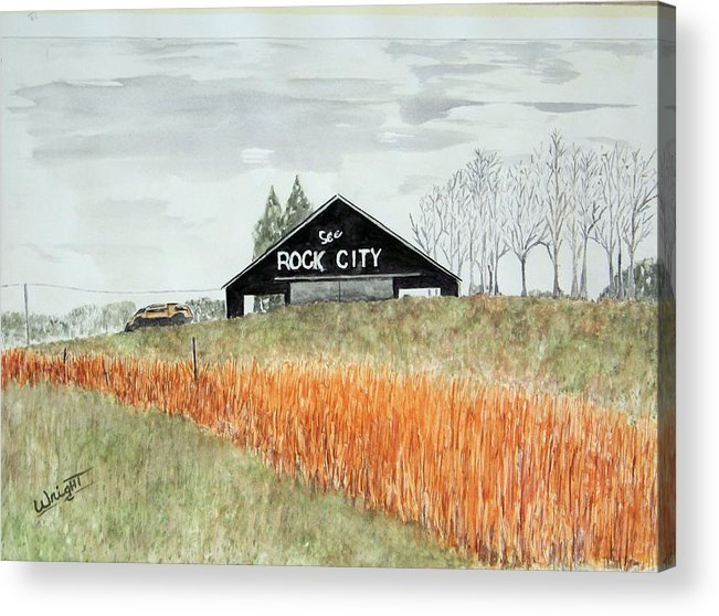 Barns Acrylic Print featuring the painting Tennessee Destination by Larry Wright