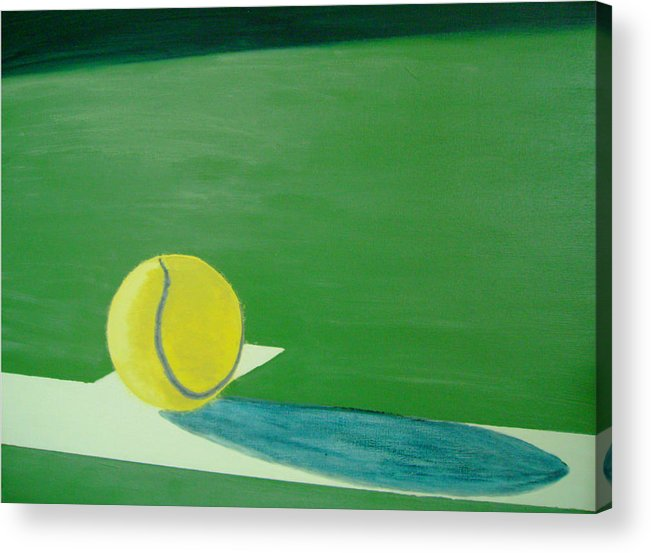 Tennis Acrylic Print featuring the painting Tennis Reflections by Ken Pursley