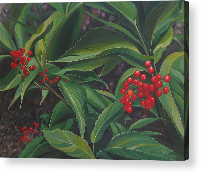 Berries Acrylic Print featuring the painting The Berries On Guanella Pass by Hunter Jay