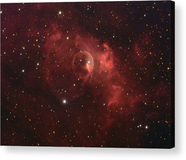 Space Art Acrylic Print featuring the photograph The Bubble Nebula by Charles Warren