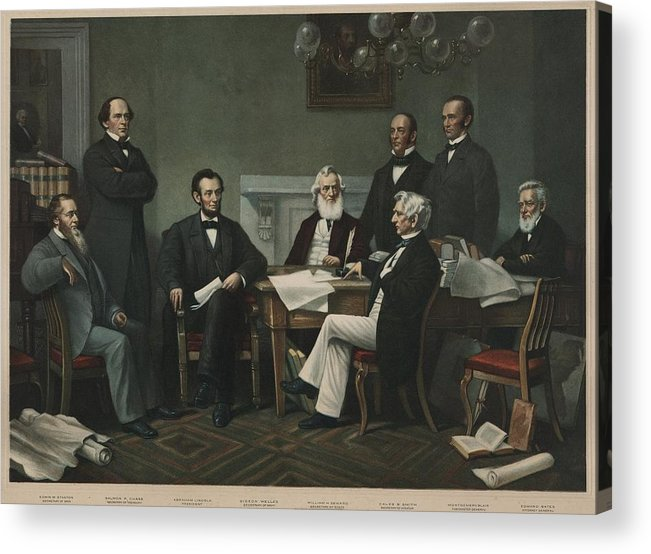 History Acrylic Print featuring the photograph The First Reading Of The Emancipation by Everett