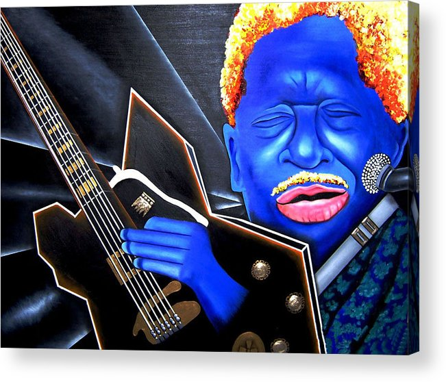 Portrait Acrylic Print featuring the painting The King by Nannette Harris