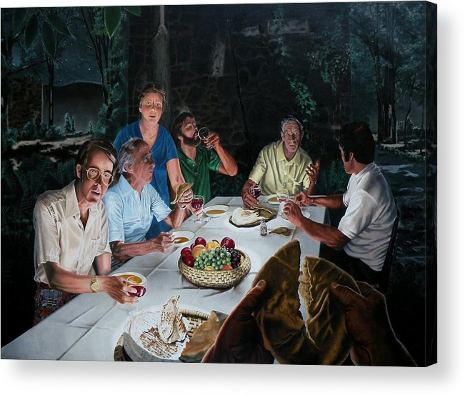 Last Supper Acrylic Print featuring the painting The Last Supper by Dave Martsolf
