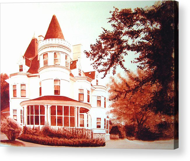 House Acrylic Print featuring the painting The Patton House by Scott Robinson