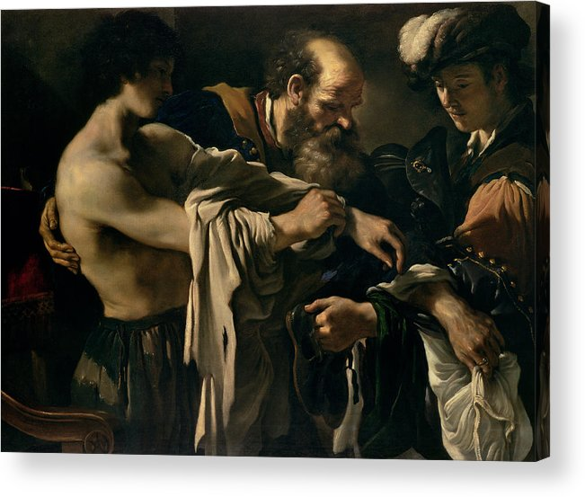 The Acrylic Print featuring the painting The Return Of The Prodigal Son by Giovanni Francesco Barbieri