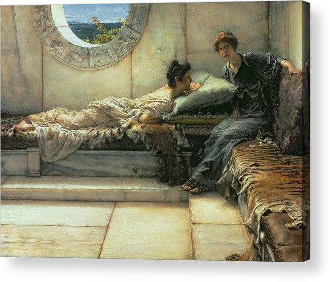The Acrylic Print featuring the painting The Secret by Sir Lawrence Alma-Tadema
