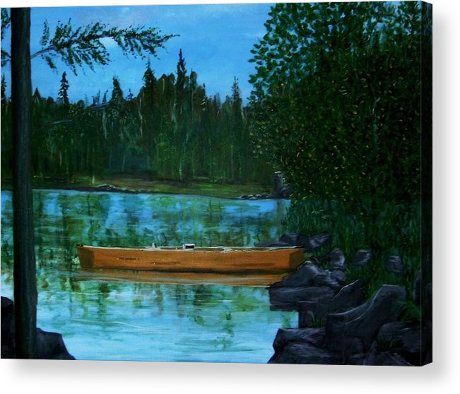 International Falls Acrylic Print featuring the painting The Wedding Gift by Richard Hubal