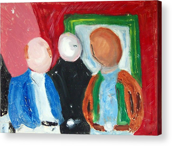 Hard Men Acrylic Print featuring the painting Three Hard Men by John Toxey