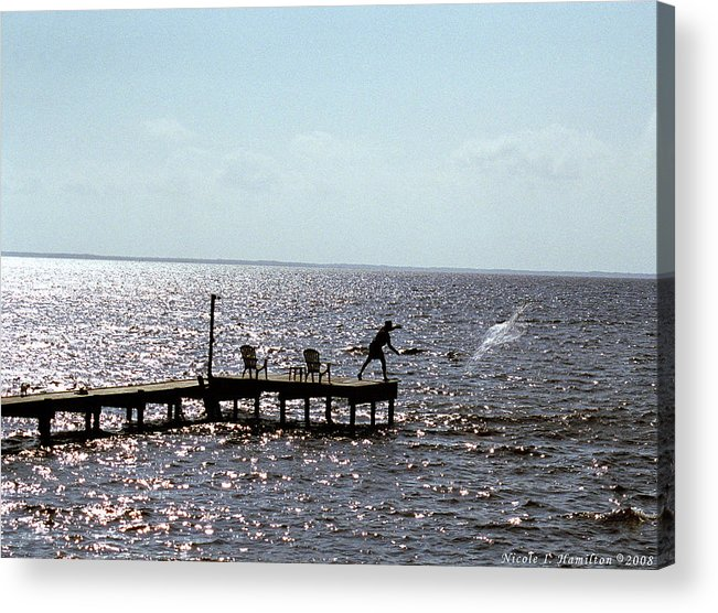 Fishing Acrylic Print featuring the photograph Throwing The Net by Nicole I Hamilton