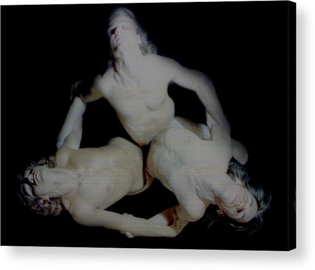 Male Acrylic Print featuring the painting Trio by Terrell Gates