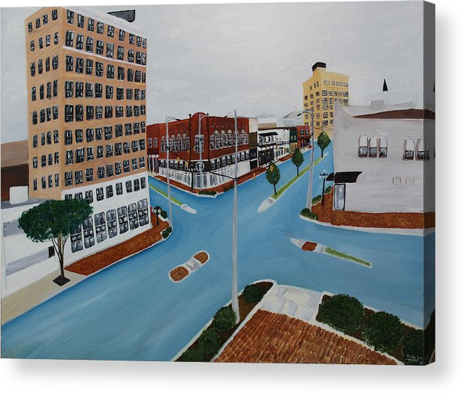 Tuscaloosa Acrylic Print featuring the painting Tushka Lusa by Tammy Dunn